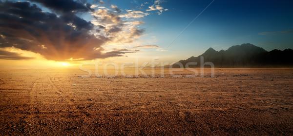 Egyptian rocky desert Stock photo © Givaga