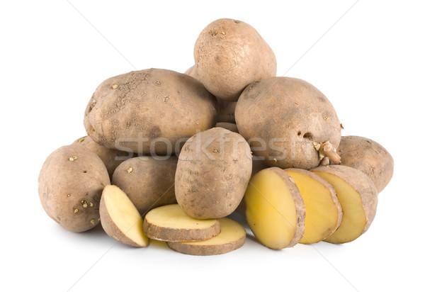 Pile of potatoes isolated Stock photo © Givaga