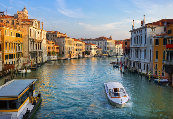 Grand Canal at dawn Stock photo © Givaga