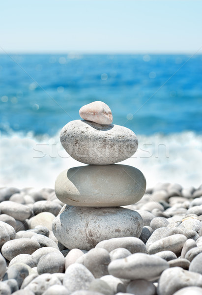 Stack pebbles Stock photo © Givaga
