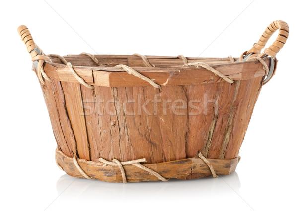 Wooden wattled basket Stock photo © Givaga