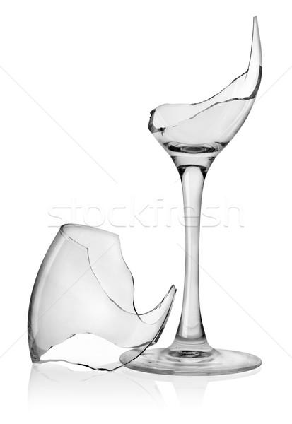 Broken wine glass Stock photo © Givaga