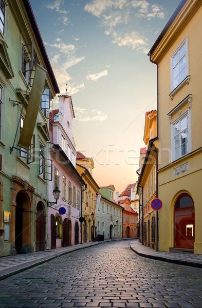 Street in Prague Stock photo © Givaga
