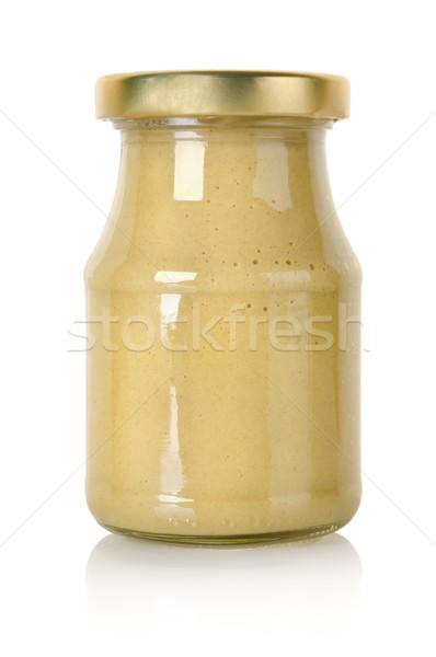 ガラス jarファイル マスタード 孤立した 白 スパイス ストックフォト © Givaga