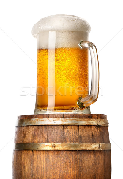 Stock photo: Light beer on cask