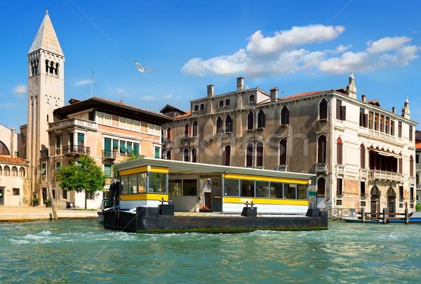 Vaporetto stop in Venice Stock photo © Givaga