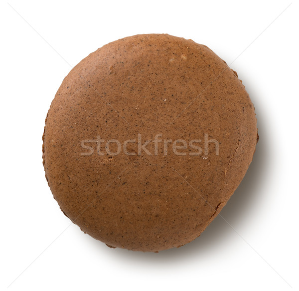 One chokolate macaron Stock photo © Givaga