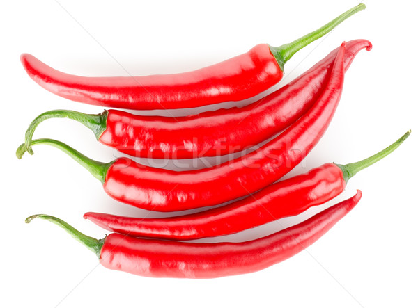 Hot chili peppers isolated Stock photo © Givaga