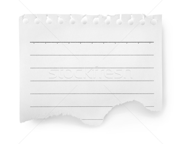 Sheet of lined paper isolated Stock photo © Givaga