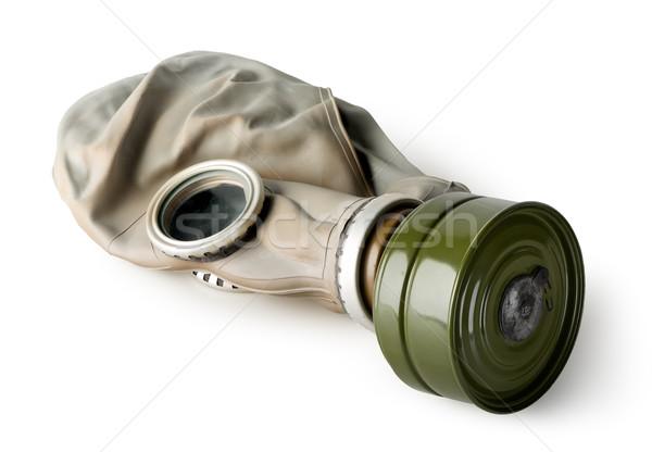 Gaz maskesi yalıtılmış beyaz arka plan takım elbise maske Stok fotoğraf © Givaga