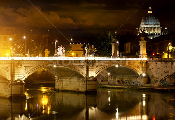 моста Ватикан Рим Италия воды здании Сток-фото © Givaga