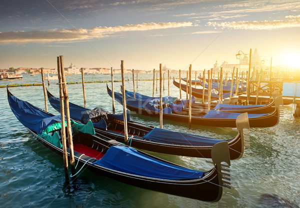 Gondolas in Venice Stock photo © Givaga