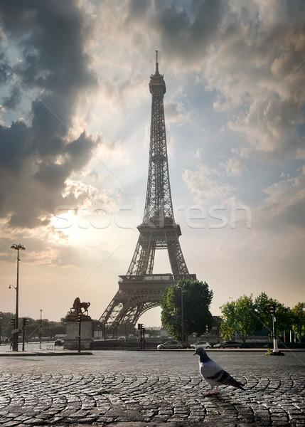 Overcast in Paris Stock photo © Givaga