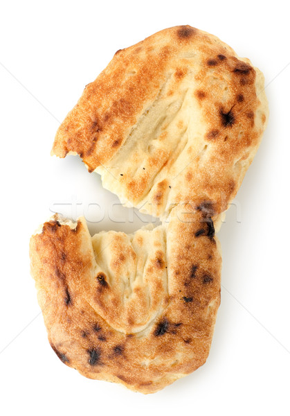 Pita kenyér izolált fehér étel fotózás Stock fotó © Givaga