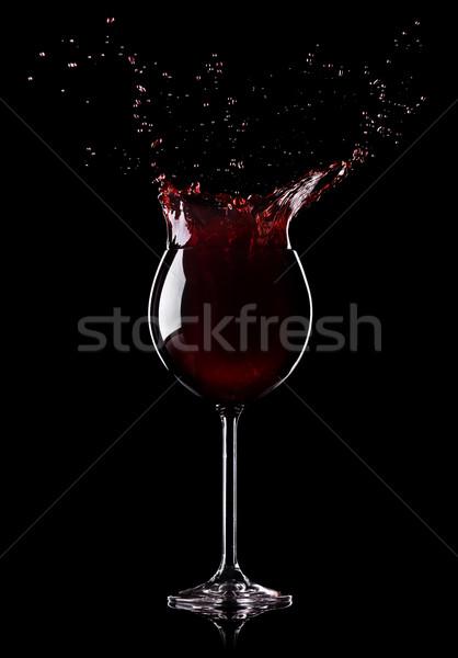 Splashing wine Stock photo © Givaga