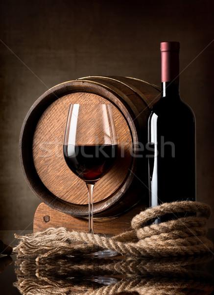 Wine and rope Stock photo © Givaga