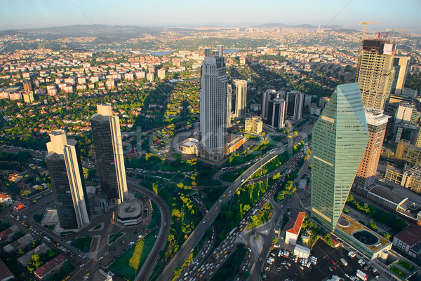 Aerial panoramic view of Istanbul Stock photo © Givaga