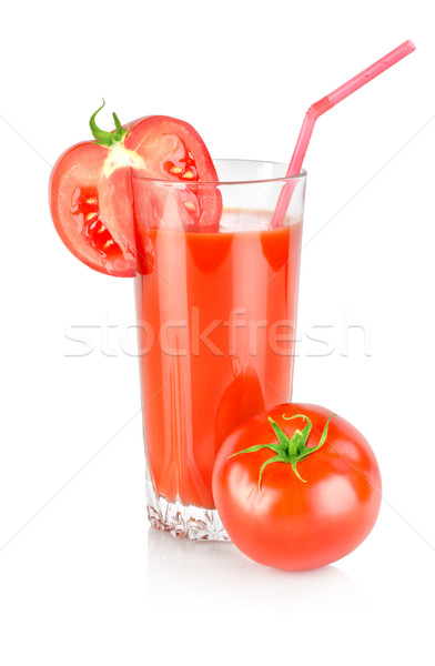 Tomato juice isolated on white Stock photo © Givaga