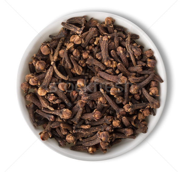 Clove in plate isolated Stock photo © Givaga