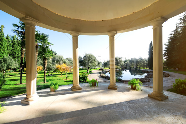 Arbour with columns Stock photo © Givaga