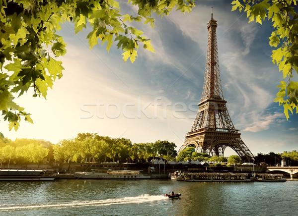 Sunset over Paris Stock photo © Givaga