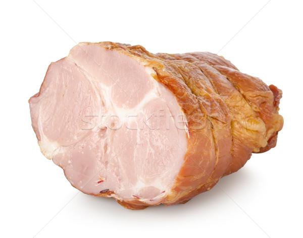 копченый свинина бекон изолированный белый продовольствие Сток-фото © Givaga