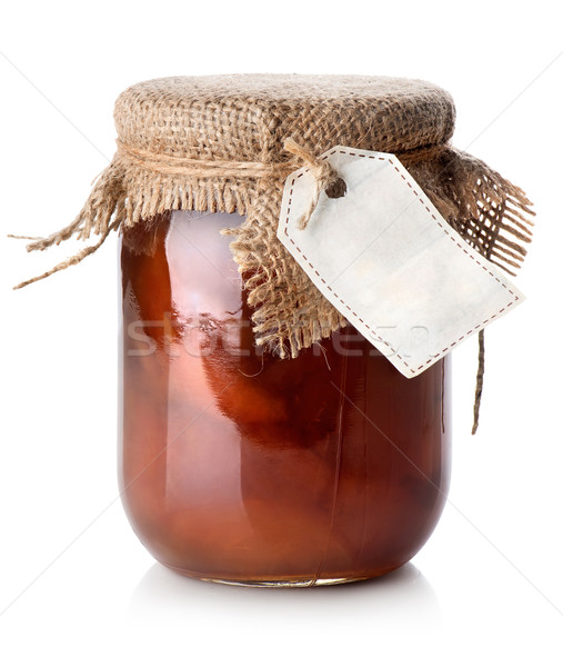 Jar of confiture Stock photo © Givaga