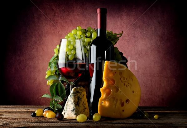 Cheese and wine Stock photo © Givaga