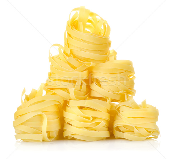 Pile of pasta tagliatelle Stock photo © Givaga