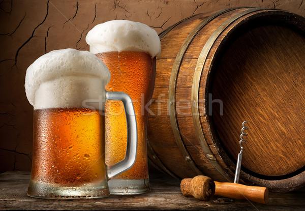 холодно пива баррель погреб текстуры Сток-фото © Givaga