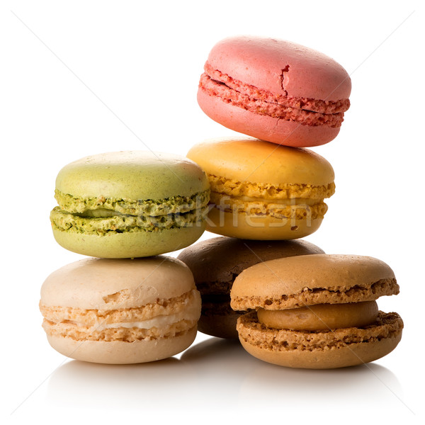 Colorful french macarons Stock photo © Givaga