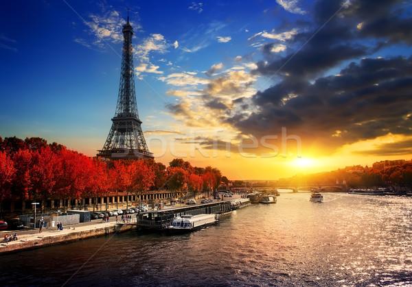 Eiffel Tower in autumn Stock photo © Givaga