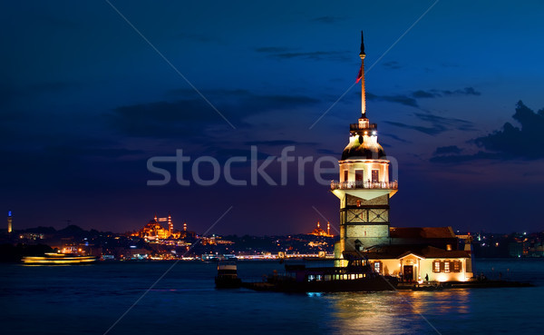Maiden's Tower at night Stock photo © Givaga