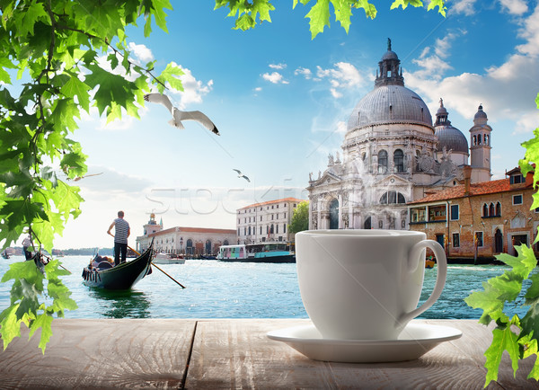 A cup of coffee in Venice Stock photo © Givaga