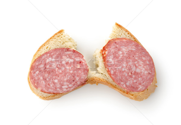 Sandwich with sausage isolated Stock photo © Givaga