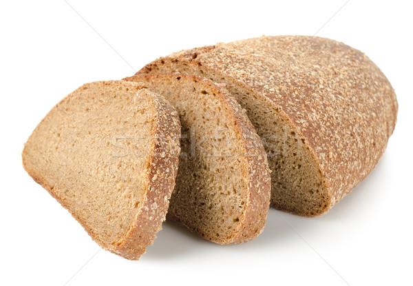 рожь хлеб изолированный белый черный фоны Сток-фото © Givaga
