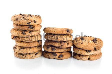 Stack of chocolate chip cookies Stock photo © Givaga