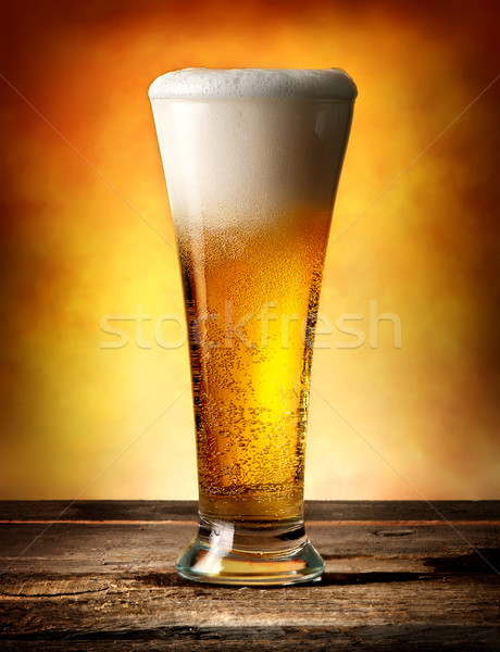 Beer with bubbles Stock photo © Givaga