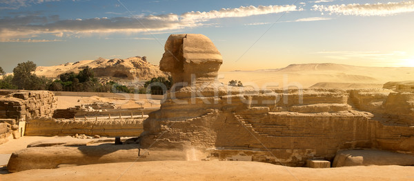 Sphinx in desert Stock photo © Givaga
