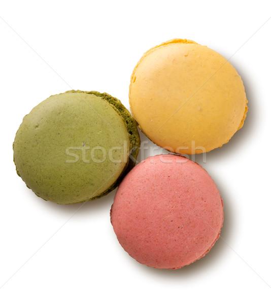 Colorato macarons isolato bianco alimentare Foto d'archivio © Givaga