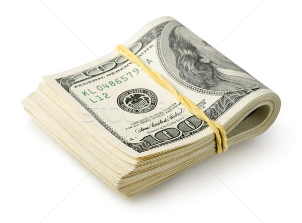Dólares elástico isolado branco negócio dinheiro Foto stock © Givaga