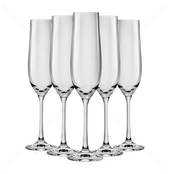Empty glass for champagne Stock photo © Givaga