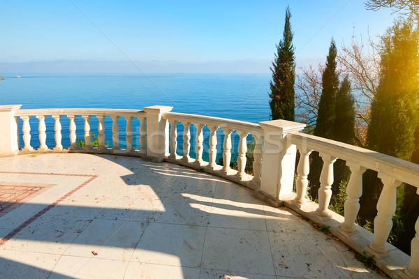 Balustrade near sea Stock photo © Givaga