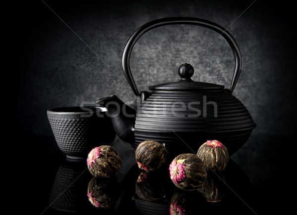 Tè bere palla nero Cup Foto d'archivio © Givaga