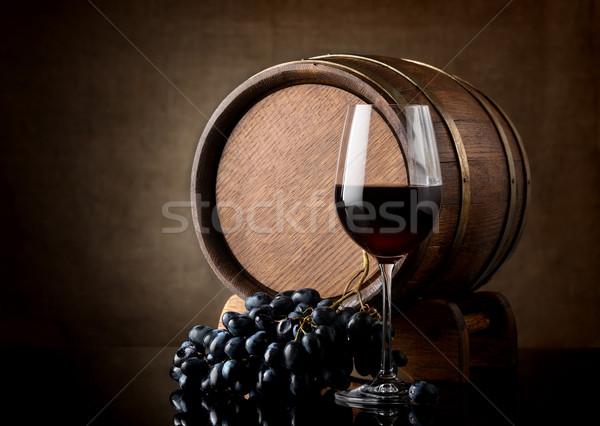 Glass and barrel Stock photo © Givaga