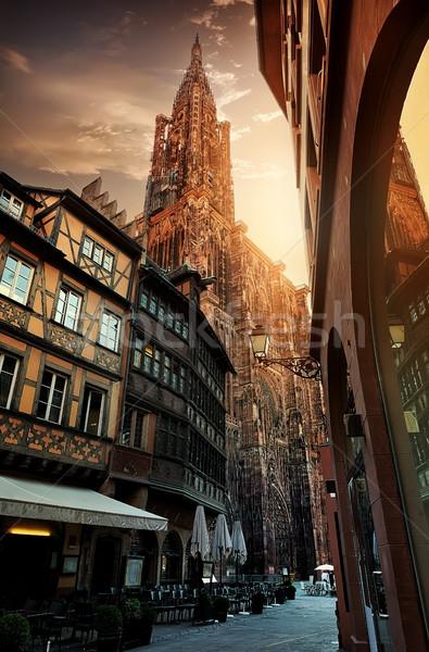 Восход собора небе облака здании Сток-фото © Givaga