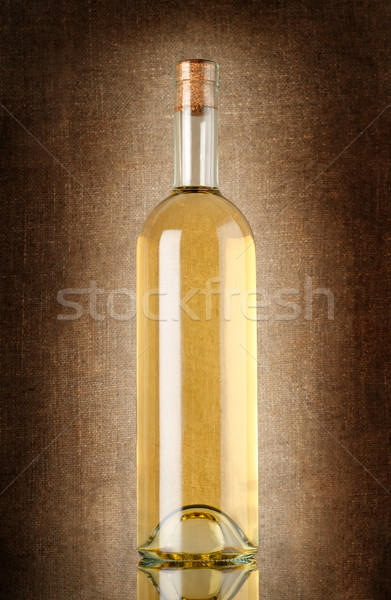 White wine on the old background Stock photo © Givaga