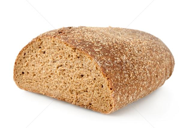 Fekete rozs kenyér izolált fehér hátterek Stock fotó © Givaga