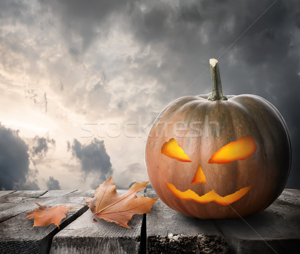 Fierce pumpkin Stock photo © Givaga