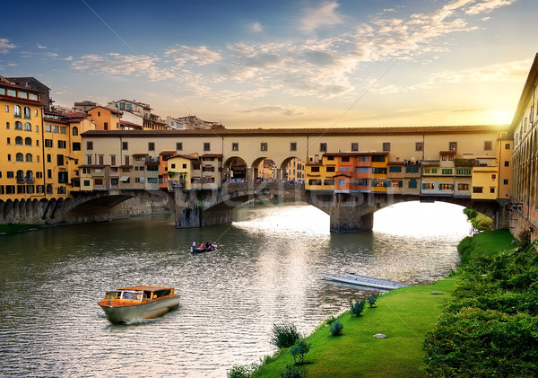 Ponte Vecchio in Florence Stock photo © Givaga